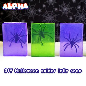 Alpha science classroom:DIY Creepy Spider Jelly Soap For Halloween